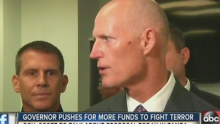 Governor Rick Scott pushes for more funds to fight terror - Video