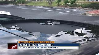 What causes sunroofs to shatter - Video