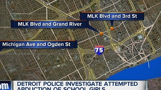 Detroit police investigating attempted abductions of school girls - Video