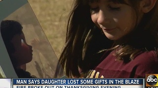 Man says daughter lost some gifts in Gilbert blaze - Video