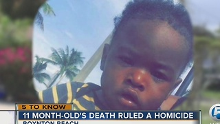 Report says Boynton Beach child died from cracked skull