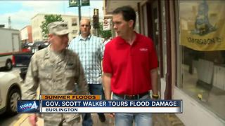Governor Walker Tours Flood damage