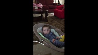 Baby gets emotional when dad sings to him - Video