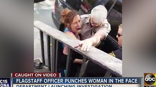 Flagstaff police officer allegedly punches woman in face - Video