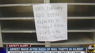 Officials hope Gilbert mail theft serves as reminder for holidays - Video