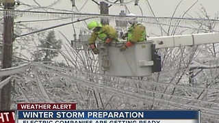 Electric Companies prepare for the upcoming winter weather - Video