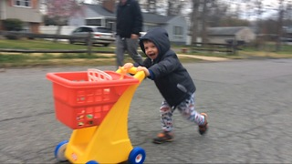 World's fastest toddler speed street shopper  - Video
