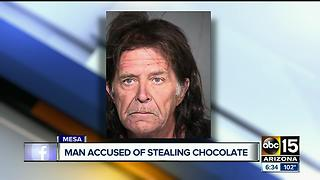 Man accused of stealing chocolate from a church - Video