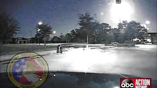 North Port Police dash cams capture fireball in the Florida sky - Video