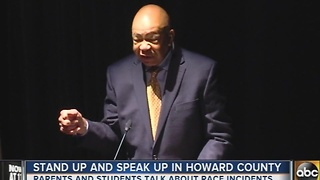 Parents, students and community leaders spoke out about race incidents in Howard County - Video