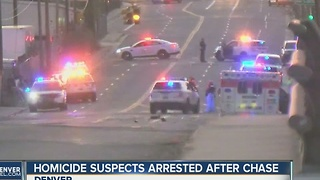 2 suspects in Aurora Travelodge homicide caught after short pursuit in Denver - Video