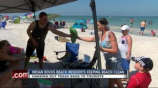 Indian Rocks Beach residents keeping beach clean - Video