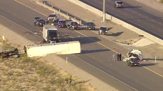 Semi crash shuts down I-15 - Video