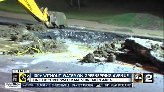 Water main break cuts off water to hundreds - Video
