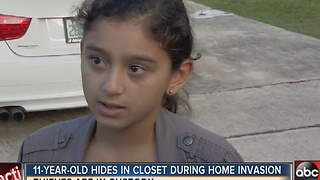 11-year-old hides in closet during home invasion - Video
