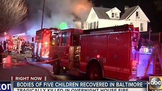 Five children killed in Baltimore house fire overnight - Video