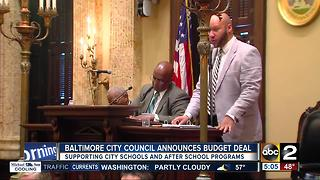 Baltimore City Council announces budget deal - Video