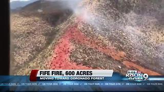 Southern Arizona Wildfire Update 7-12 - Video