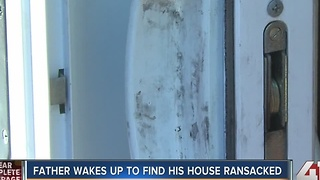 Man wakes up to find his home ransacked - Video