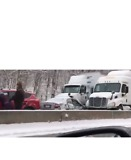 Multiple Car Wrecks Reported on Snowy Pennsylvania Turnpike - Video