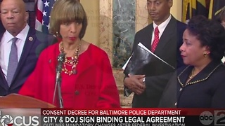 Mayor, feds announce consent decree for Baltimore police - Video