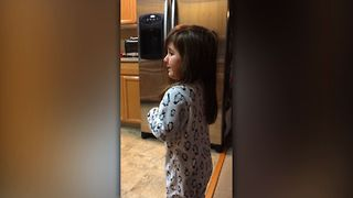 Little Girl Loves Coupons - Video