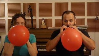 Flutists Inhale Helium Before Playing Mozart - Video