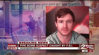 Bixby pipe bomb suspect caught by in Tulsa - Video