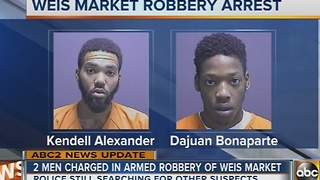 Two arrested in armed robbery of Weis Market - Video