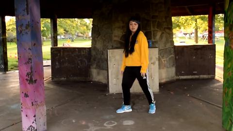 Teenage girl delivers spectacular dance moves