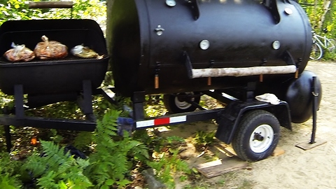 This might be the world's biggest BBQ smoker!