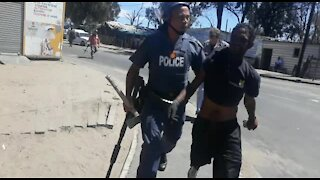 SOUTH AFRICA - Cape Town - Protest in Witsand Atlantis. (8hK)