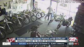 Business owner staying positive after burglary - Video