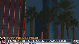 Rio hotel-casino tower evacuated, power out - Video