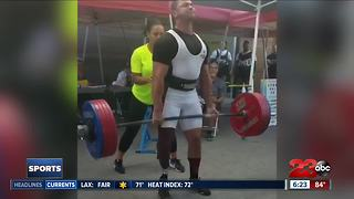 BPD amputee officer places in weight lifting competition - Video