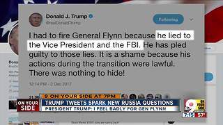 Trump tweets spark new Russia question