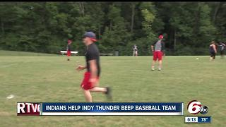Indianapolis Indians take on the Indy Thunder Beep Baseball Team - Video