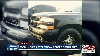 Woman's car stolen hours before giving birth - Video