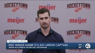 Dylan Larkin talks about taking over as Red Wings captain