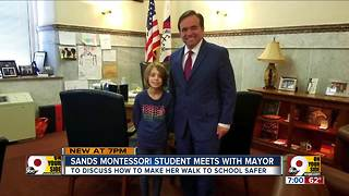 Sands Montessori student meets with mayor - Video
