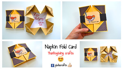 Thanksgiving DIY crafts: Napkin fold card instructions