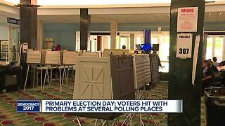 Primary election day: Voters hit with problems at several polling places - Video