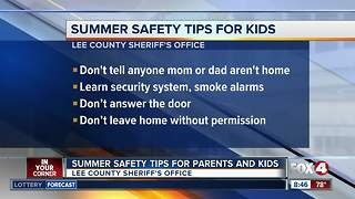 Summer safety tips for parents and kids