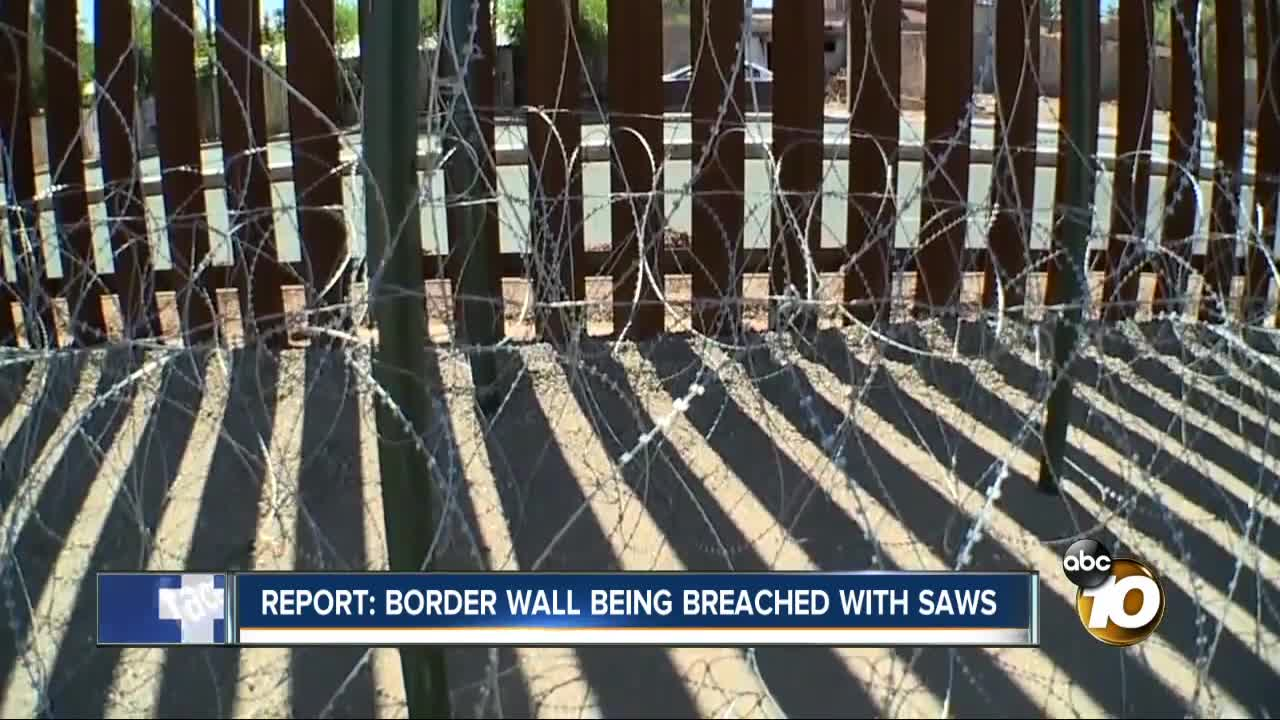 Report: Border wall being breached with saws