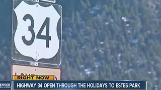 Highway 34 temporarily re-opens providing boost to Estes Park business owners - Video
