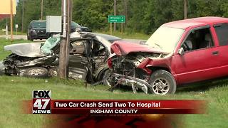 Two injured, one critically after crash in Leroy Township - Video