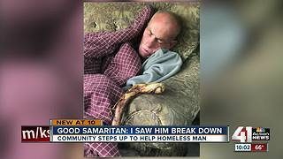 Homeless man getting help after viral photo - Video