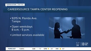 CareerSource Tampa Bay reopening offices with limited operations