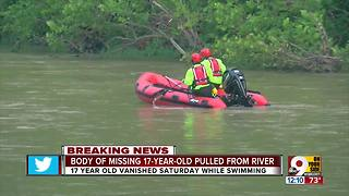 Missing teen's body recovered from Little Miami River - Video