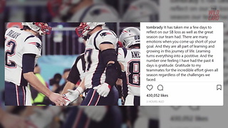 Tom Brady Sends Message To Fans And Eagles After Super Bowl Loss - Video